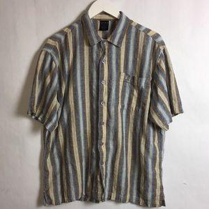 FUBU Men's Short Sleeve Casual ButtonUp Shirt XL